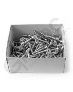 Box 200 x Pozidrive Wood Screws 8 x 1.25