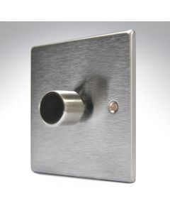 Hartland Stainless Steel LED Dimmer 1G 2W 100w