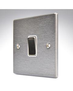 Hartland Stainless Steel 1 Gang Light Switch