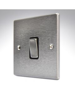 Hartland Stainless Steel 20a Double Pole Switch