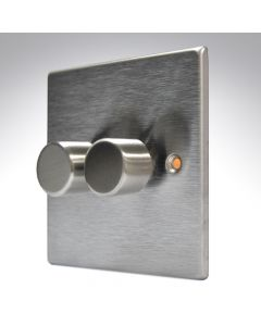 Hartland Stainless Steel LED Dimmer 2G 2W 100w