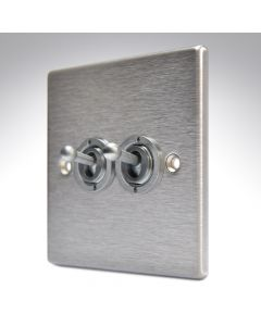 Hartland Stainless Steel 2 Gang Toggle Switch