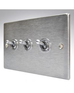 Hartland Stainless Steel 3 Gang Toggle Switch