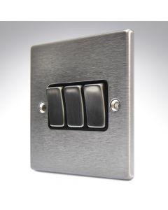 Hartland Stainless Steel 3 Gang Light Switch