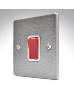Hartland Stainless Steel 45a Double Pole Switch