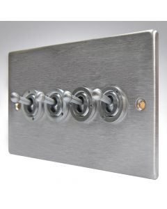 Hartland Stainless Steel 4 Gang Toggle Switch