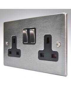 Hartland Stainless Steel Double Socket