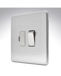 13A Switched Fused Spur Brushed Steel