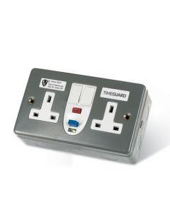 RCD Twin Metal Socket Active