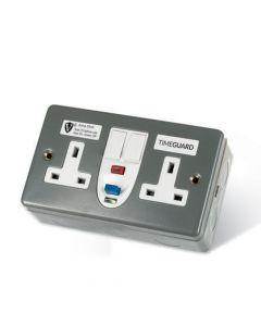 RCD Twin Metal Socket Passive