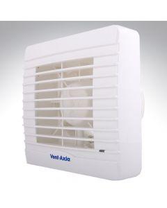 Vent Axia VA100LP Lo Carbon 4 Inch Extractor Fan Pullcord + Timer + Humidistat