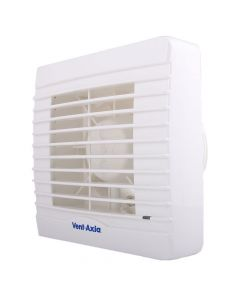 Vent Axia VA100XHTP Lo Carbon 4 Inch Extractor Fan + Humidistat + Timer + Pullcord + Shutters