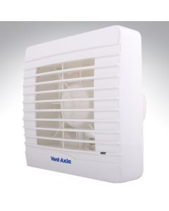 Vent Axia VA100LT Lo Carbon 4 Inch SELV Extractor Fan + Timer + Shutters