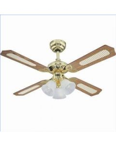 4 Blade Ceiling Fan 78199 Princess Trio Polished Brass