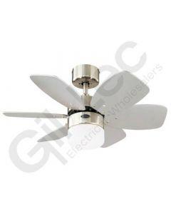 6 Blade Ceiling Fan 78788 Royale Satin Chrome