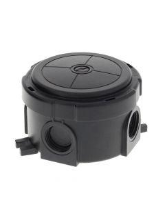 Wiska Round Combi Box Black with Wago 221 Connectors