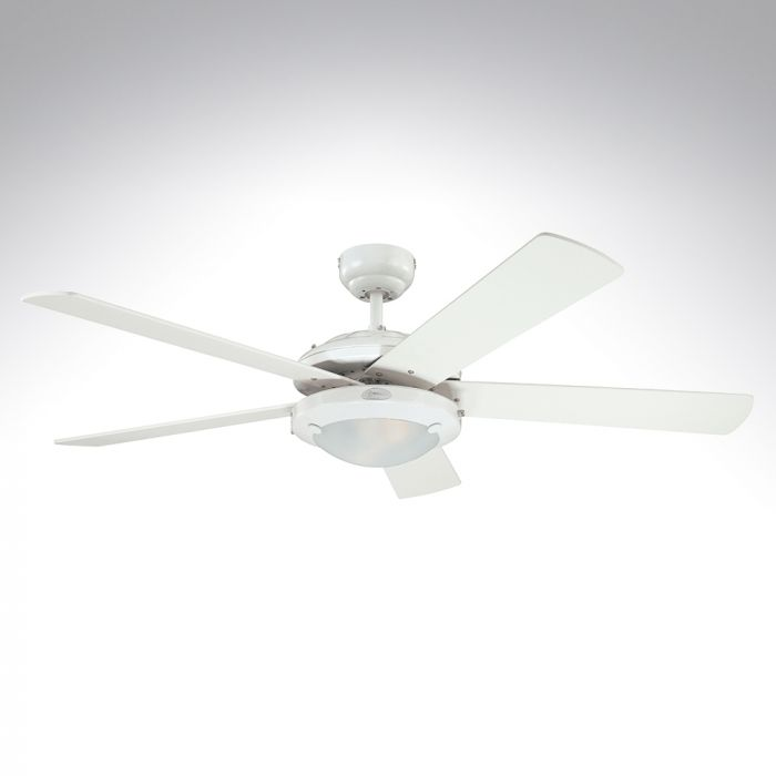 Westinghouse 5 Blade Ceiling Fan 78017 Comet White